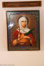 Holy Martyr Tatiana Wood base Icon 10х12cm Святая Татьяна