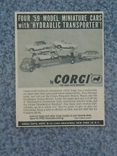 Vintage 1959 Corgi Hydraulic Car Transporter Advertisement
