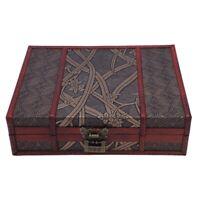 Holz Aufbewahrungs Box Schmuck Schatulle GroßE Vintage Holz Schatulle mit M C9I6