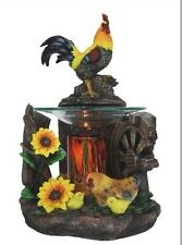 Rooster Burner Wax Tart Scented Oil Candle Warmer Electric Polyresin Hen Chicks