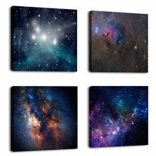 Framed Outer Space Starlight Galaxy Modern Canvas Prints Picture Wall Art Decor