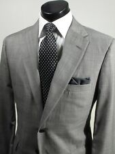 Tom James Suit 39 R Holland Sherry Wool Gray Glen Plaid 2 Button Full Canvas