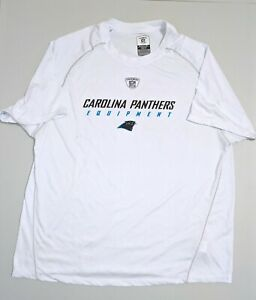 CAROLINA PANTHERS White Reebok Equipment Weather Under Shirt Short Sleeve Large