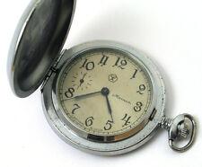 Vintage Russian pocket watch Molnija  Soviet USSR