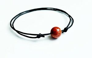 Red Jasper Amulet  Bracelet Healing Gemstone GROUNDING IMMUNITY HEALTH