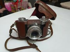 VINTAGE ZEISS IKON CONTAFLEX TESSAR 50MM LENS WITH LEATHER CASE