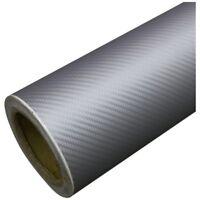 DIY 30x127 3D Carbon Fiber Decal Vinyl Film Wrap Roll Adhesive Car Sticker Sh TP