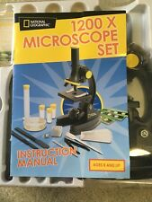 National Geographic 100x -1200x Microscope 25 piece set