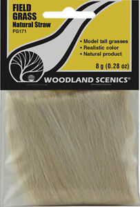 Woodland Scenics Model Railroad Landscape Field Grass (Tall Straw) Natural Straw