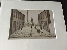 Small L.S Lowry Print In Mount - Great Gift Idea