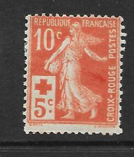 FRANCE 1914 10c+5c Red Cross surcharge  vf Mint hinged  SG 352 c.v. £46