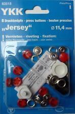 8 Botones De Presión sin Costura Jersey ' COLOR' 11,4mm Tapa Rojo 83518
