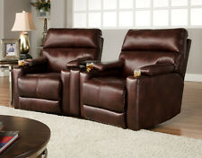 American Made Tangier Home Theater Seating  2 Seats - Bonded Leather/Microfiber