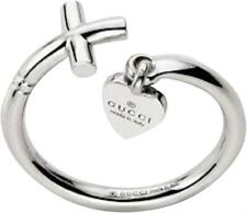 75d000c1d NWT $1080 GUCCI 18K White Gold Cross Heart Ring Size Gucci 12/ 5.5 - 6