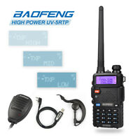 Baofeng UV-5R TP V/UHF Transceiver 1/4/8W Ham Two-Way Radio + Speaker + Cable&CD