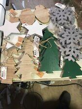 Lot of 20 wooden  ornaments