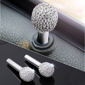 Bling Rhinestone-encrusted Aluminum Alloy Door Lock Knob Pins For Car Truck SUV