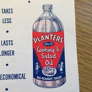 1940s Vintage Planters Mr. Peanut Cooking Oil Recipe Brochure Baking Recipes