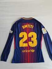 Umtiti Barcelona 2017-2018 La Liga Match Prepared Shirt