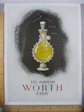 Rare Orig VTG 1949 Les Parfums Worth Silexore Paris Horse Advertising Art Print