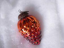 boule de noël raisin orange ancien verre églomisé mercurisé 19 ème siècle ;