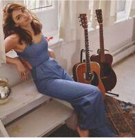 Lovers+Friends gardenia chambray jumpsuit size xxs tie open back wide leg blue