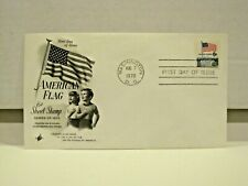 1970 U.S. First Day Cover 6c American Flag Sheet Stamp Art Craft Cachet!