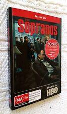 THE SOPRANOS – SEASON SIX – DVD, 4-DISC (+1 BONUS DISC) SET, R-4, LIKE NEW
