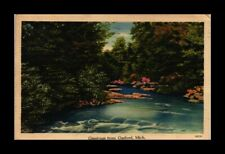 DR JIM STAMPS US GREETINGS GAYLORD MICHIGAN LINEN VIEW POSTCARD