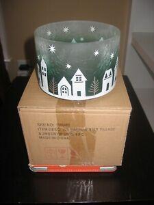 YANKEE CANDLE 1568402 J/S BARRL WINTER VILLAGE NIB CRACKLE GLASS