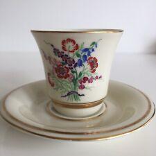 Tasse à café Marcel Goupy Maison Rouard Porcelaine Limoges Haviland Fleurs n°2