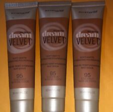3 Maybelline Dream Velvet Soft Matte Foundation New & Sealed 95 Coconut Trío Ne