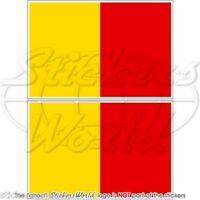 "France Gwadloup Gwada 100mm Decal x1+2 BONUS GUADELOUPE Flag Red Sticker 4/"""