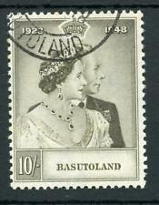 Basutoland 1948 Silver Wedding 10s grey-olive SG37 FU