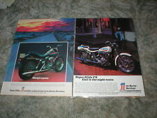 1972  HARLEY - DAVIDSON Super Glide FX cycle ad 1200cc ( Left ad Only)