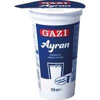 Gazi Ayran 20x 250ml Joghurt Drink Getränk Mixgetränk Joghurt Salz 1% Elopak
