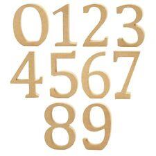 Creativ Wooden Alphabet Capital Number - MDF - 13 x 2 cm - Brown - 0 - 9