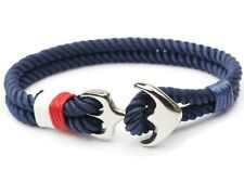 Anchor Sailor Bracelet Men Rope Bracelets Survival Hook Stainless Steel Jewelry