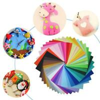 40pcs Mixed Color Felt Fabric Non-Woven Cloth for DIY Sewing Doll Crafts Decor