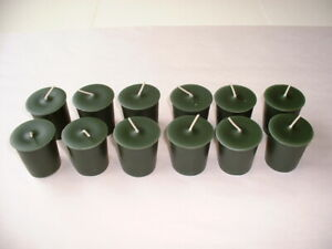 12 Votive Candles - Hand Poured - 12 Bayberry