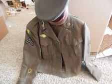 Vintage World War II Army Air Force USSTAF Ike Jacket and Hat Uniform