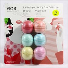 EOS Organic Smooth Sphere Lip Balm 6 Pack New Sealed Free Fast Shipping