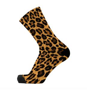 RedFoxSox Leopard Bamboo Socks. Animal Print socks. Bold Socks. Novelty Socks.