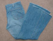 Vintage Rare Wide Bell Leg Single Stitch Talon 42 Zip Faux Pocket Denim Jeans 33