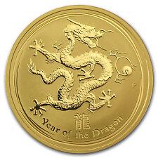 2012 1 oz Gold Australian Perth Mint Lunar Year of the Dragon Coin - SKU #63857
