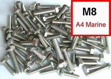 M8 Marine Grade Stainless (A4/316) 8mm Hex Head Bolts / Set Screws x50 Mixed