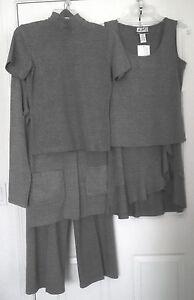 Randolph Duke 5 pc Suit Co-Ord Set NEW Mix & Match Pants Skirt Jacket Tops XS