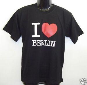 Fun T-Shirt * I LOVE BERLIN Schwarz S - XXL