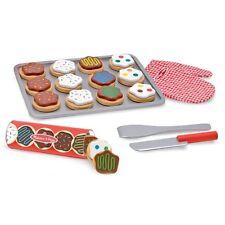 Childrens Wooden Cookies Set Kids Toy 12 Pastry Slices Pretend Bakery Sweet Food