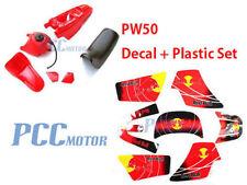 3M RED GRAPHICS DECAL PLASTIC SEAT KIT YAMAHA PW50 PW U DE63+